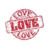 Tampon en caoutchouc de grunge d'amour Photographie stock libre de droits