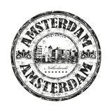 Tampon en caoutchouc de grunge d'Amsterdam Image stock