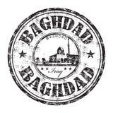 Tampon en caoutchouc de grunge de Bagdad illustration libre de droits
