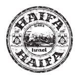 Tampon en caoutchouc de grunge de Haïfa Photos libres de droits