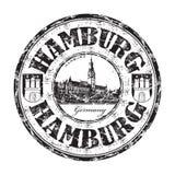 Tampon en caoutchouc de grunge de Hambourg Photos stock