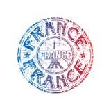 Tampon en caoutchouc de grunge de la France Photos libres de droits