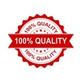 tampon en caoutchouc 100% de grunge de qualité Illustration de vecteur sur b blanc Photos stock
