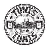 Tampon en caoutchouc de grunge de Tunis Photographie stock libre de droits