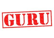 Tampon en caoutchouc de Guru Photo libre de droits