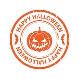 Tampon en caoutchouc de Halloween Images libres de droits