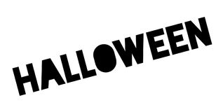 Tampon en caoutchouc de Halloween Photos stock