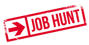 Tampon en caoutchouc de Job Hunt Image stock