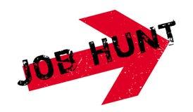 Tampon en caoutchouc de Job Hunt Image libre de droits