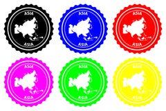 Tampon en caoutchouc de l'Asie illustration libre de droits