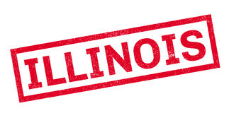 Tampon en caoutchouc de l'Illinois Photographie stock libre de droits