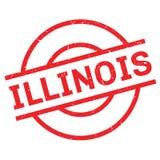 Tampon en caoutchouc de l'Illinois Photographie stock
