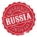 Tampon en caoutchouc de la Russie Images libres de droits