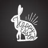 Tampon en caoutchouc de lapin de Pâques Images libres de droits