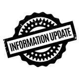 Tampon en caoutchouc de mise à jour de l'information Images stock