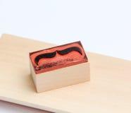 Tampon en caoutchouc de moustaches Concept de conscience de santé du ` s d'hommes de Movember Images stock