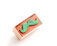 Tampon en caoutchouc de moustaches Concept de conscience de santé du ` s d'hommes de Movember Photo libre de droits