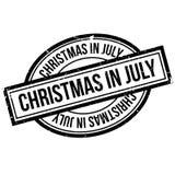 Tampon en caoutchouc de Noël en juillet Image libre de droits