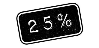 tampon en caoutchouc de 25 pour cent Photo libre de droits