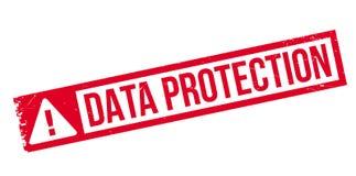 Tampon en caoutchouc de protection des données illustration stock