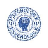 Tampon en caoutchouc de psychologie Photo stock
