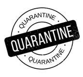 Tampon en caoutchouc de quarantaine Image stock