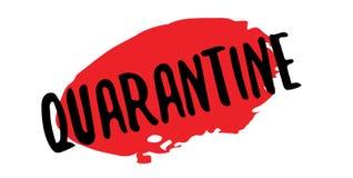 Tampon en caoutchouc de quarantaine Images libres de droits
