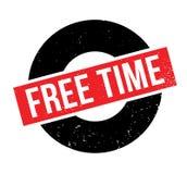 Tampon en caoutchouc de temps gratuit Photo stock