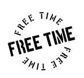 Tampon en caoutchouc de temps gratuit Photos stock