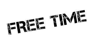 Tampon en caoutchouc de temps gratuit Image libre de droits