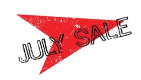 Tampon en caoutchouc de vente de juillet Photographie stock libre de droits