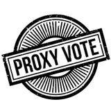 Tampon en caoutchouc de vote par procuration Images stock