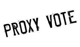 Tampon en caoutchouc de vote par procuration Photographie stock