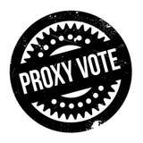 Tampon en caoutchouc de vote par procuration Photos stock