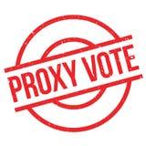 Tampon en caoutchouc de vote par procuration Images libres de droits