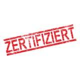 Tampon en caoutchouc de Zertifiziert Images stock