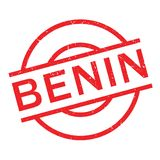 Tampon en caoutchouc du Bénin Photos stock