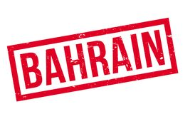 Tampon en caoutchouc du Bahrain Photo stock