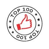 Tampon en caoutchouc du principal 100 Photographie stock