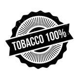 Tampon en caoutchouc du tabac 100 Photographie stock