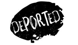 Tampon en caoutchouc expulsé illustration libre de droits