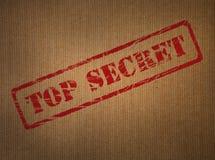 Tampon en caoutchouc extrêmement secret Images libres de droits
