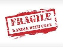 Tampon en caoutchouc fragile d'estampille Photographie stock libre de droits