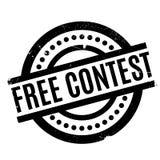 Tampon en caoutchouc gratuit de concours Photographie stock
