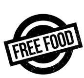 Tampon en caoutchouc gratuit de nourriture Photographie stock libre de droits