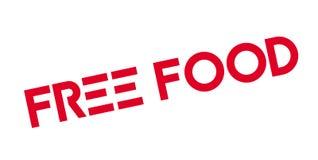 Tampon en caoutchouc gratuit de nourriture Image libre de droits