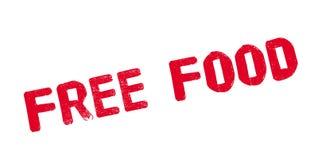 Tampon en caoutchouc gratuit de nourriture Image stock