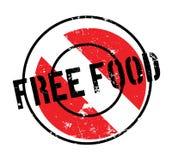 Tampon en caoutchouc gratuit de nourriture Images stock