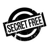 Tampon en caoutchouc gratuit de secret Photographie stock libre de droits