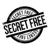Tampon en caoutchouc gratuit de secret Images stock